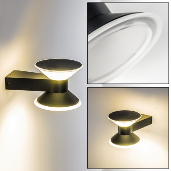 CONE Outdoor Wall Light LED anthracite, 2-light sources