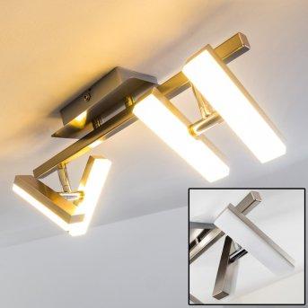 Sakami ceiling light LED matt nickel, 4-light sources