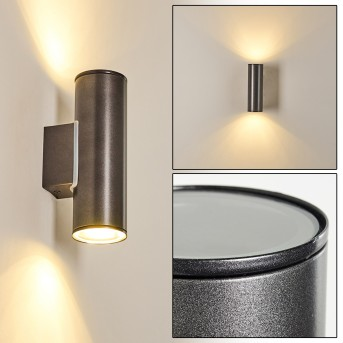 BRACHY Outdoor Wall Light LED anthracite, 2-light sources