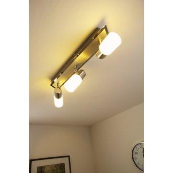 Trio 8214 ceiling light LED chrome, aluminium, stainless steel, 3-light sources