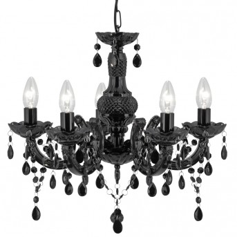 Ceiling Light Searchlight MARIE THERESE black, 5-light sources