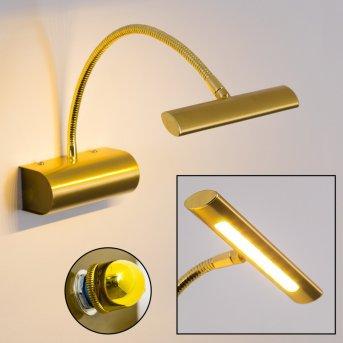 Trio Curtis wall light LED brass, 1-light source