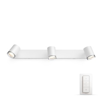 Philips HUE AMBIANCE WHITE ADORE spot white, 3-light sources, Remote control