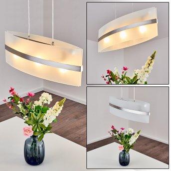 Avellino pendant light stainless steel, white, 3-light sources