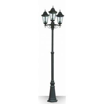 Lutec BRISTOL lamppost black, 3-light sources