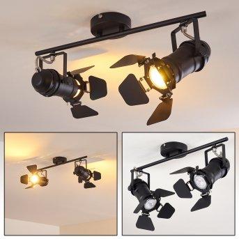 LICHINGA Ceiling Light black, 2-light sources