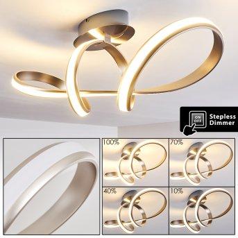 WOYENS Ceiling light LED brushed steel, 1-light source