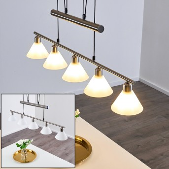 Bamenda Pendant Light matt nickel, 5-light sources