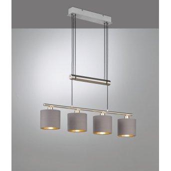 Trio GARDA Pendant Light matt nickel, 4-light sources