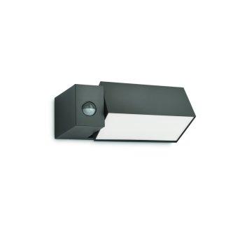 Philips Ecomoods BORDER wall light anthracite, 1-light source, Motion sensor