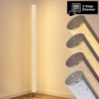 Pipe Floor Lamp LED matt nickel, 1-light source