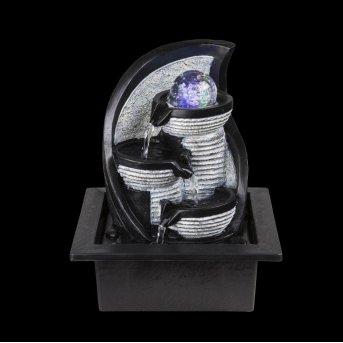 Globo ALBERT fountain LED grey, 4-light sources, Colour changer