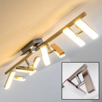 Sakami ceiling light LED matt nickel, 8-light sources