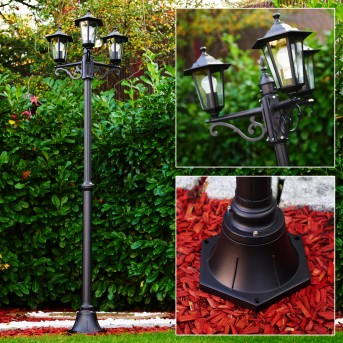 VALTIMO lamp post black, 3-light sources
