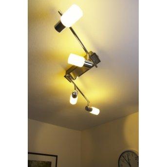 Trio 8214 ceiling light LED chrome, aluminium, stainless steel, 4-light sources