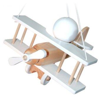Waldi Flugzeug pendant light white, Light wood, 1-light source