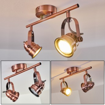 ANIAK Ceiling Light LED copper, 2-light sources
