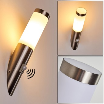 Norburg Outdoor Wall Light stainless steel, 1-light source, Motion sensor