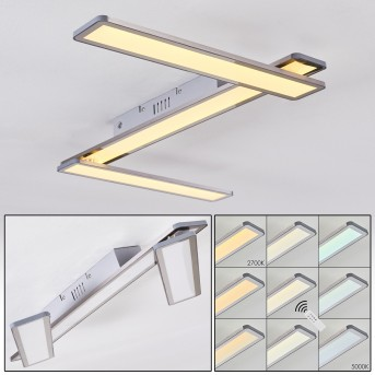 Mirabo Ceiling Light LED white, 3-light sources, Remote control
