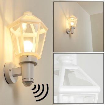 CATIGNY Outdoor Wall Light white, 1-light source, Motion sensor