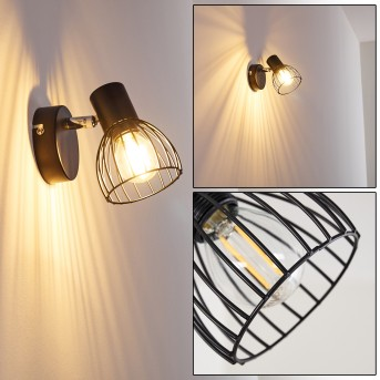 Wall Light Bolderslev chrome, black, 1-light source