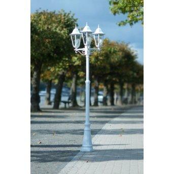 Lutec BRISTOL lamppost white, 3-light sources