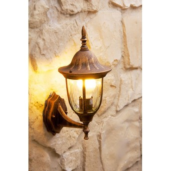 Ribadeo outdoor wall light brown, gold, 1-light source