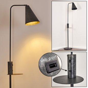 TERWISPEL Floor Lamp black, grey, anthracite, 1-light source