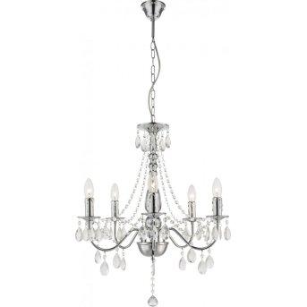 Globo chandelier chrome, 5-light sources