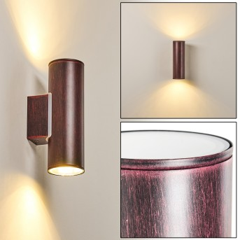 BRACHY Outdoor Wall Light LED red, black, 2-light sources