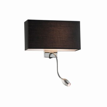 Ideal Lux HOTEL Wall Light LED chrome, 1-light source
