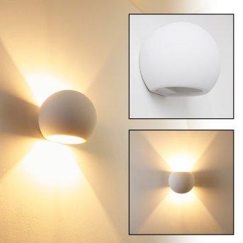 Flot wall light white, 1-light source