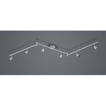 Reality Paris Ceiling Light titanium , 6-light sources