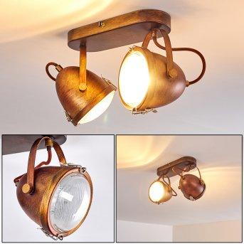 Butikon Ceiling Light rust-coloured, 2-light sources