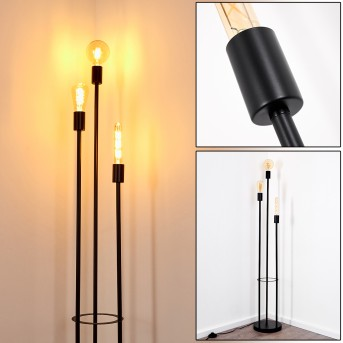 MAIDFORD Floor Lamp black, 3-light sources