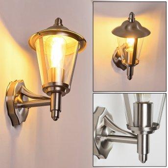 LERKSOV Outdoor Wall Light stainless steel, 1-light source