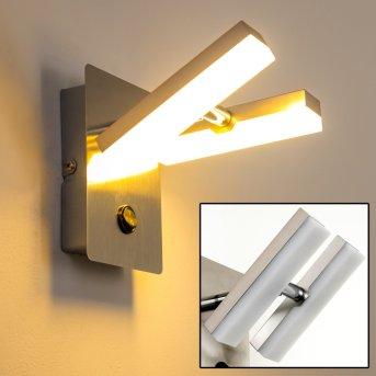 Sakami wall light LED matt nickel, 2-light sources