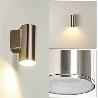BRACHY Outdoor Wall Light LED stainless steel, 1-light source