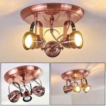 ANIAK Ceiling Light LED copper, 3-light sources