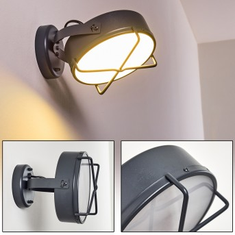 GOTTER Outdoor Wall Light LED anthracite, 1-light source