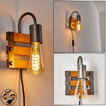Mallard Wall Light silver, Light wood, 1-light source