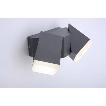 Paul Neuhaus RYAN Wall Light LED anthracite, 2-light sources