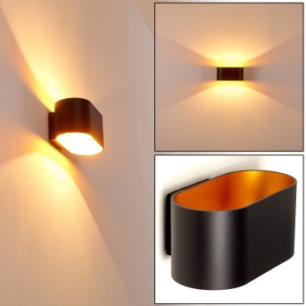 Wall Light Dapp black-gold, 1-light source