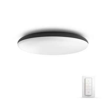 Philips HUE AMBIANCE WHITE CHER Ceiling Light LED black, 1-light source, Remote control