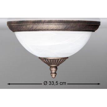 Rabalux Madrid outdoor ceiling light white, 2-light sources