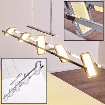 GRAVENDAL Pendant Light LED chrome, 5-light sources