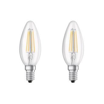 Osram LED E14 4 Watt 2700 Kelvin 470 Lumen Set of 2