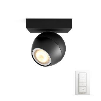Philips HUE AMBIANCE WHITE BUCKRAM Spotlight base set black, 1-light source, Remote control
