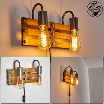 Mallard Wall Light silver, Light wood, 2-light sources
