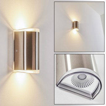 RUMAR outdoor wall light LED stainless steel, 1-light source